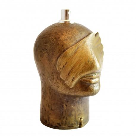 FARINA Skulptur ZUKUNFT mit Bronze-Maske