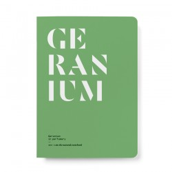 NEZ + LMR The naturals notebook - Geranium